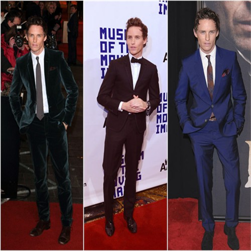 Eddie Redmayne in Burberry Prorsum, Thom Browne, and Alexander McQueen