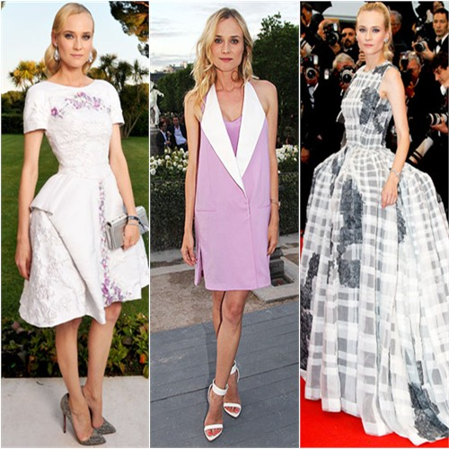 Diane Kruger in Chanel, 3.1 Phillip Lim, and Christian Dior