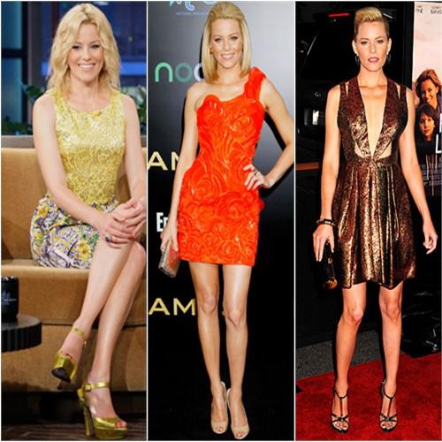 Elizabeth Banks in Dolce & Gabbana, Atelier Versace, and J. Mendel
