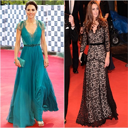 Catherine, Duchess of Cambridge in Jenny Packham and Alice by Temperley