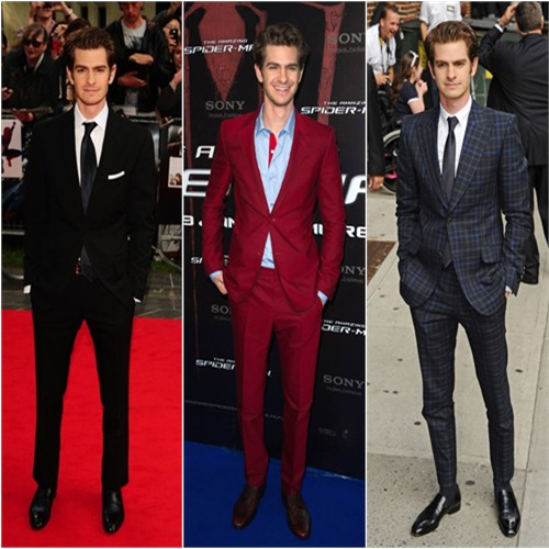 Andrew Garfield in Tom Ford, Balenciaga, and Gucci