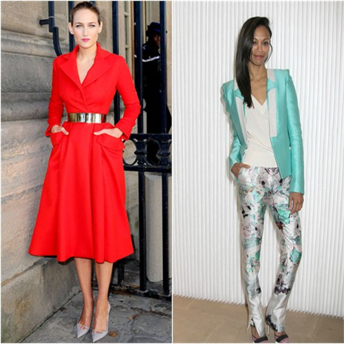 Leelee Sobieski in Christian Dior and Zoe Saldana in Prabal Gurung