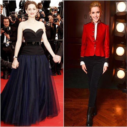 Marion's gown by Christian Dior; Kiernan's jacket and pants by Ralph Lauren