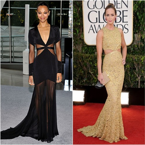 Zoe's gown by Prabal Gurung; Emily's gown by Michael Kors