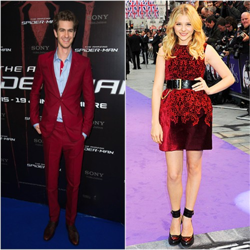 Andrew's suit by Balenciaga, Chloë's dress by McQ