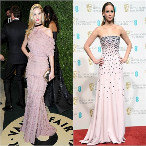 Rosie's gown by Valentino; Jennifer's gown by Christian Dior