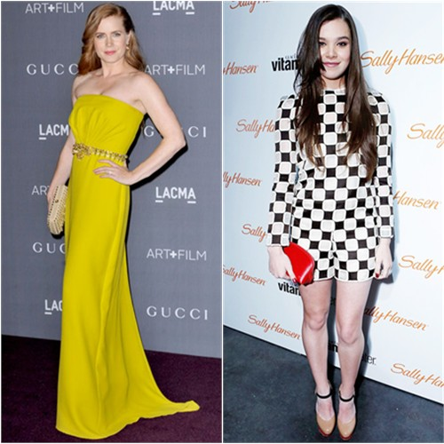 Amy's gown by Gucci; Hailee's romper and purse by Louis Vuitton