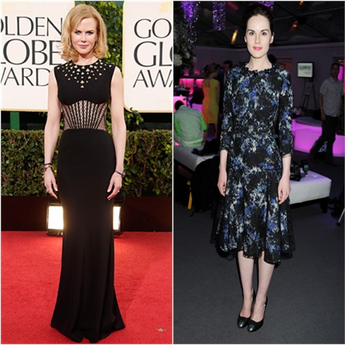 Nicole's gown by Alexander McQueen; Michelle's dress by Erdem