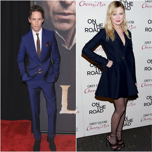 Eddie's suit by Alexander McQueen; Kirsten's dress and shoes by Christian Dior