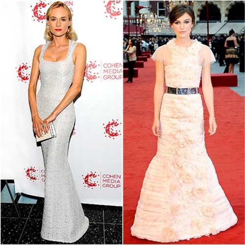 Diane's gown by Azzedine Alaa, Keira's gown by Chanel