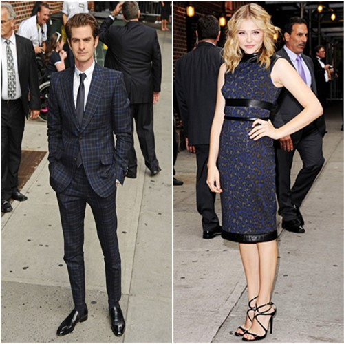 Andrew's suit by Gucci; Chloë's dress by Christopher Kane, shoes by Jimmy Choo