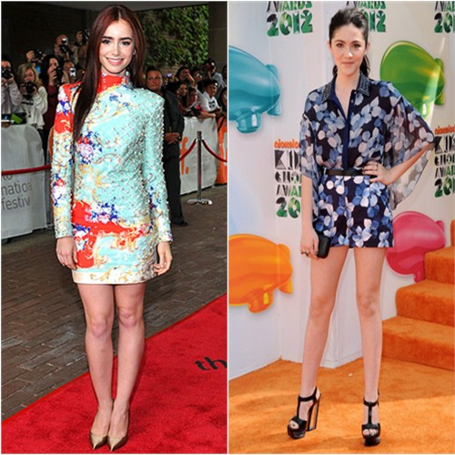 Lily's dress by Balmain, shoes by Casadei; Isabelle's top and shorts by Jason Wu, purse by Kotur, shoes by Casadei