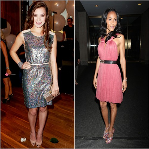 Hailee's dress by Erin by Erin Fetherston, purse by Edie Parker; Jada's dress by Lanvin, shoes by Nicholas Kirkwood