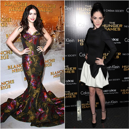 Lily's gown by Zac Posen; Isabelle's dress by Valentino, shoes by Giuseppe Zanotti