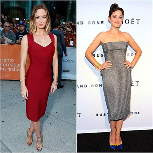 Emily's dress by Roland Mouret, shoes by Alexandre Birman; Marion's dress by Christian Dior