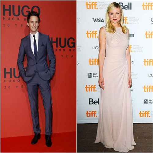 Eddie's suit by Hugo Boss; Kirsten's gown by Christian Dior