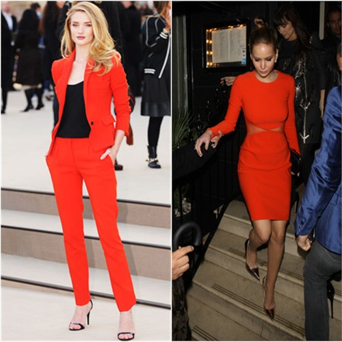 Rosie's suit by Burberry, shoes by Manolo Blahnik; Jennifer's dress by Stella McCartney, shoes by Jimmy Choo