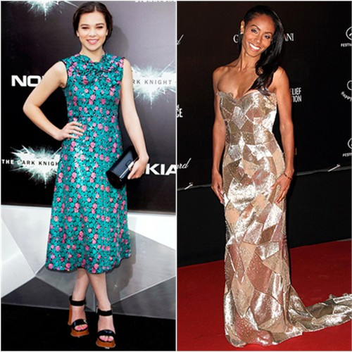 Hailee's dress, purse, and shoes by Marc Jacobs; Jada's gown by Emilio Pucci