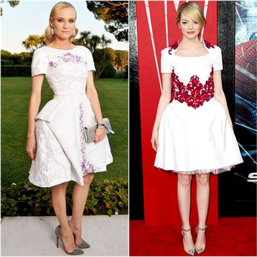 Diane and Emma's dresses by Chanel, shoes by Christian Louboutin