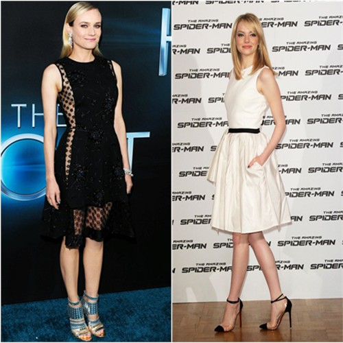 Diane's dress by Thakoon, shoes by Jimmy Choo; Emma's dress by Jason Wu, shoes by Christian Louboutin