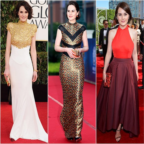 Michelle Dockery in Alexandre Vauthier, L'Wren Scott, and Prada