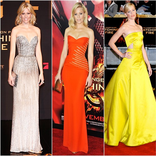 Elizabeth Banks in Elie Saab, Versace, and Jason Wu