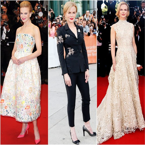 Nicole Kidman in Christian Dior, Altuzarra, and Valentino