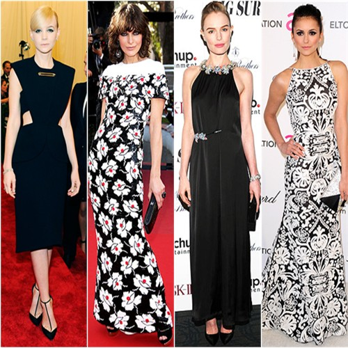 Carey Mulligan in Balenciaga; Milla Jovovich in Chanel; Kate Bosworth in Christopher Kane; Nina Dobrev in Naeem Khan