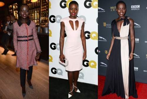 Lupita Nyong'o in Moschino, Cushnie et Ochs, and Lanvin