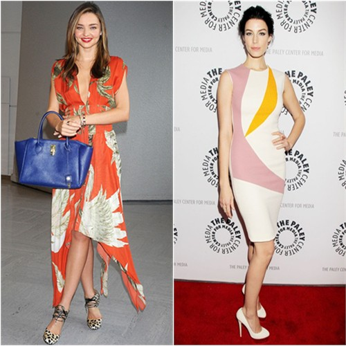Miranda's dress by Wes Gordon, purse by Samantha Thavasa, shoes by Bionda Castana