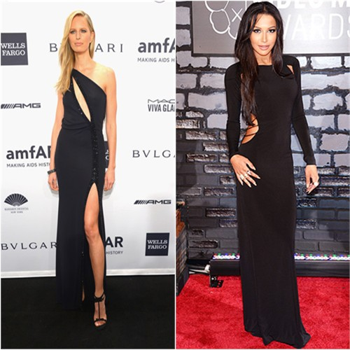 Karolina's gown by Armani, shoes by Jimmy Choo; Naya's gown by Paco Rabanne