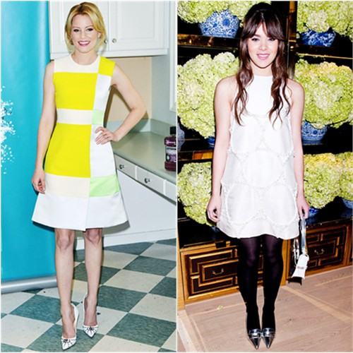 Elizabeth's dress by Roksanda Ilincic; Hailee's dress and shoes by Tory Burch
