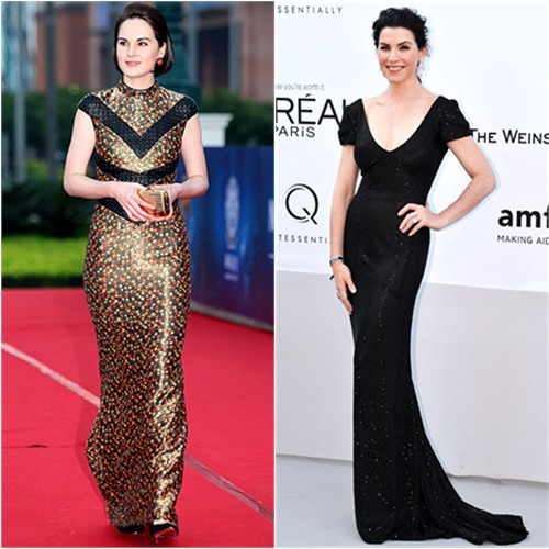 Michelle Dockery and Julianna Margulies in L'Wren Scott