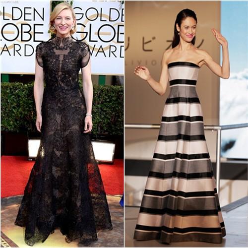 Cate's gown by Armani Privé; Olga's gown by Christian Dior