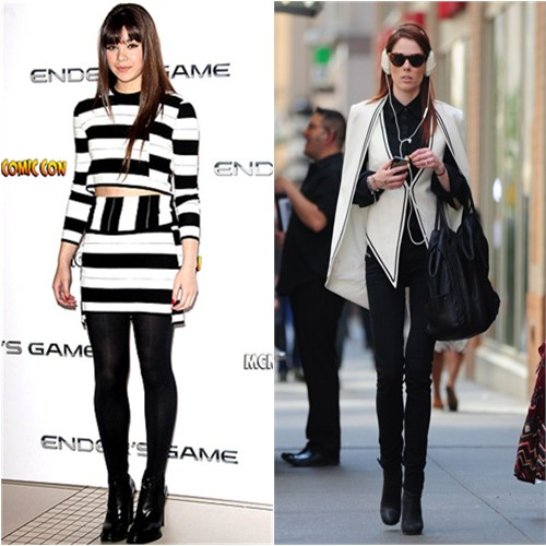 Hailee's top and skirt by Thakoon Addition; Coco's cape and vest by Sass & Bide