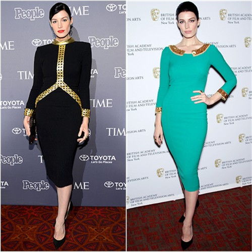 Jessica Paré in L'Wren Scott Fall 2013