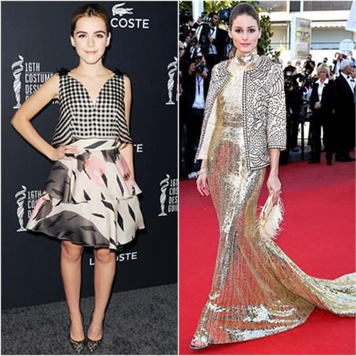 Kiernan's dress by Delpozo; Olivia's jacket by Zara, gown by Roberto Cavalli