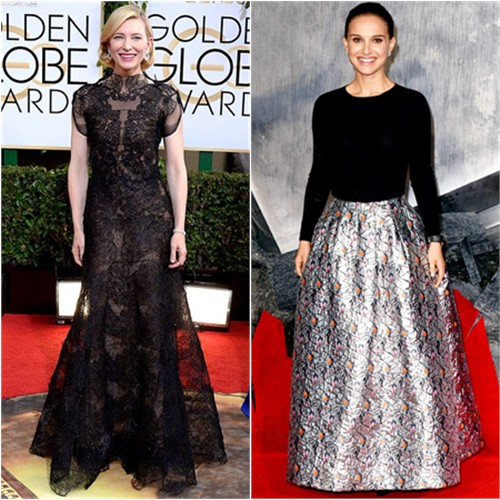 Cate's gown by Armani Priv; Natalie's gown by Christian Dior