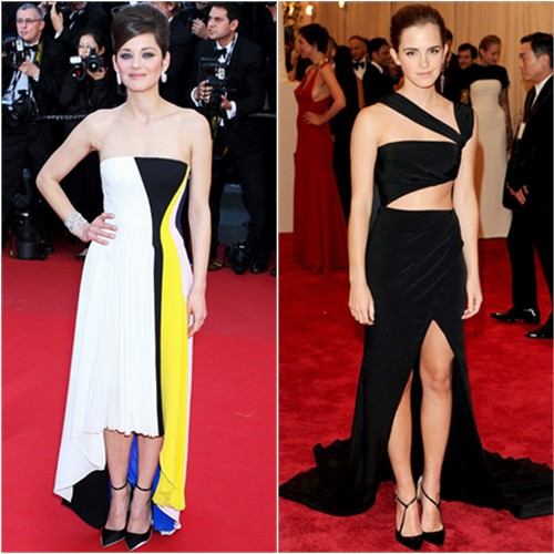 Marion's dress and shoes by Christian Dior; Emma's gown by Prabal Gurung