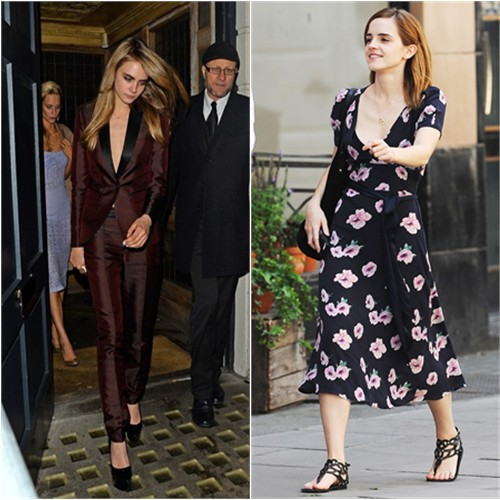 Cara's suit by Burberry Prorsum