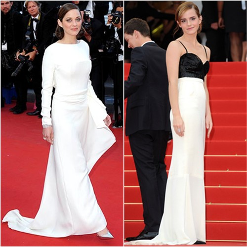 Marion's gown by Christian Dior; Emma's gown by Chanel