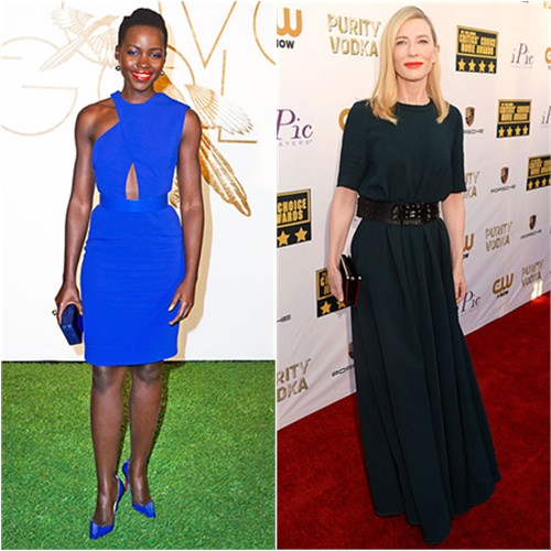 Lupita's dress by Stella McCartney, purse by Rauwolf, shoes by Christian Louboutin