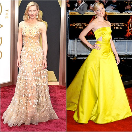 Cate's gown by Armani Privé; Elizabeth's gown by Jason Wu