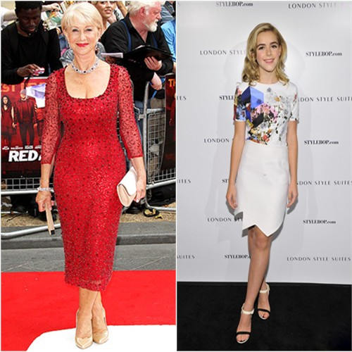 Helen's dress by Jenny Packham; Kiernan's dress by Preen