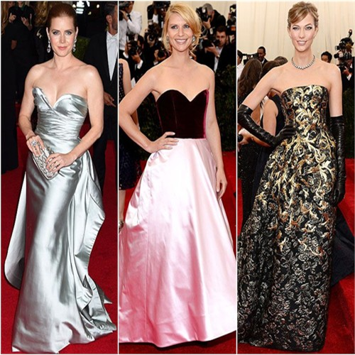 Amy Adams, Claire Danes, and Karlie Kloss at the 2014 Met Gala