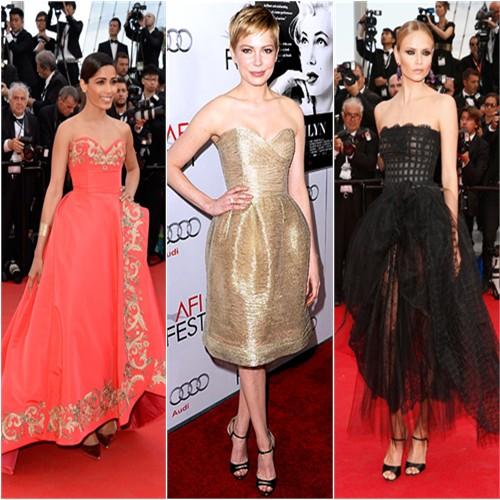 Freida Pinto at Cannes; Michelle Williams at AFI; Natasha Poly at Cannes
