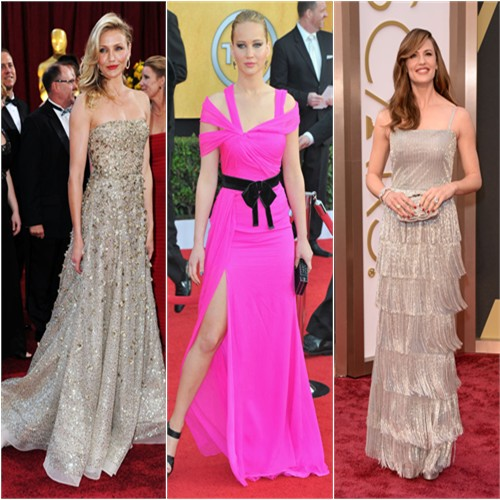 Cameron Diaz at the 2010 Oscars; Jennifer Lawrence at the 2011 SAG Awards; Jennifer Garner at the 2014 Oscars