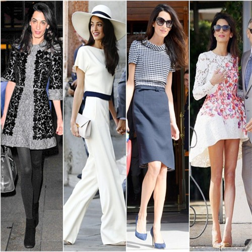 Amal Clooney in Dolce & Gabbana, Stella McCartney, Oscar de la Renta, and Giambattista Valli