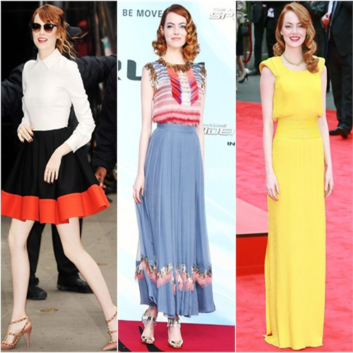 Emma Stone in Valentino, Chanel, and Atelier Versace