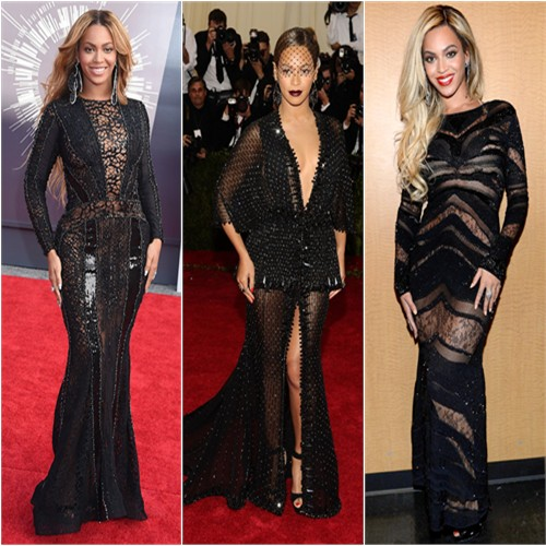 Bey at the 2014 VMAs, the 2014 Met Gala, and a 2014 Pre-Superbowl concert